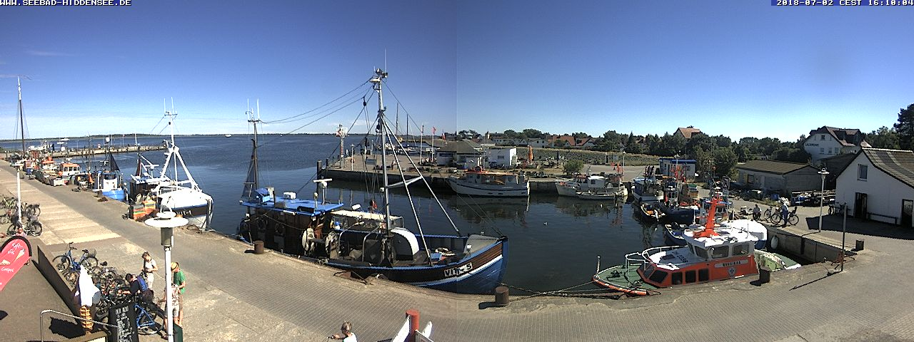 Webcam Hafen in Vitte auf Hiddensee